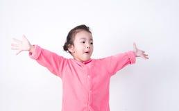 Изумленный маленький ребенок очень excited Стоковые Изображения RF