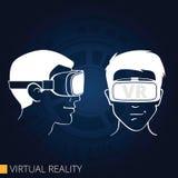 Изумлённые взгляды виртуальной реальности Стоковые Изображения RF