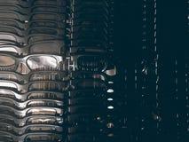 изумлённые взгляды 3D или стекла, как использовано для того чтобы смотреть 3 габаритных фильма в кино Стоковое Фото