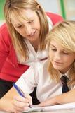 изучать женского студента подростковый Стоковая Фотография RF