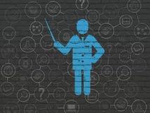 Изучать концепцию: Учитель на предпосылке стены