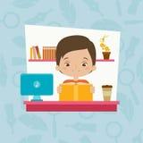 Изучать мальчика иллюстрация штока
