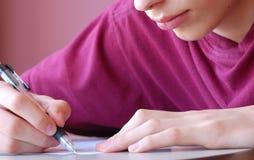 изучать подросток Стоковая Фотография RF