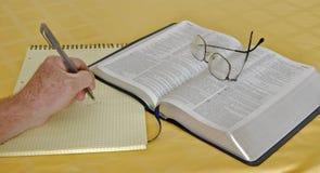 изучение библии Стоковое Изображение RF