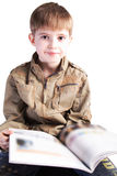 изучение мальчика Стоковое Изображение