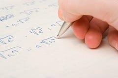 изучение математики тренировки Стоковое фото RF
