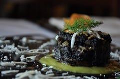 Изысканная еда дизайна Флан артишока кальмара Стоковые Изображения