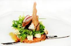 Изысканные голубой сыр и салат ветчины Стоковая Фотография