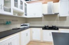 Изысканные новые характеристики кухни нутряная кухня самомоднейшая стоковые изображения