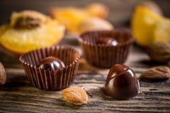 Изысканные bonbons шоколада Стоковое Изображение