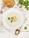 Изысканный cream суп с champignons грибов Стоковое Изображение RF