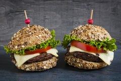 2 изысканных гамбургера Стоковое фото RF