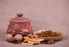 изюминка бака пирожнй глины nuts вкусная Стоковые Изображения RF