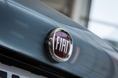 01 из августа 2017 - Vinnitsa, Украины - логотип FIA бренда Стоковое фото RF