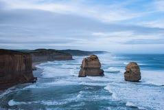 2 из 12 апостолов, туристская перспектива, положение Австралии, Виктории Стоковые Фото