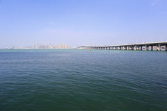 Издалека, мост xinglin Стоковая Фотография