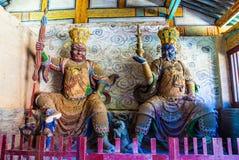 2 из 4 буддийских королей-Virudhaka и Dhrtarastra в Tianlongshan Тайюаня Стоковые Фото