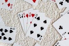 4 из вида 6, карточка покера Стоковые Изображения