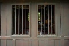 2 из деревянного окна Стоковые Изображения RF