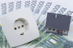 Издержки электроэнергии стоковые изображения
