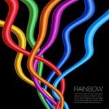 Изделия переплетенные радугой яркие живые на черноте иллюстрация вектора