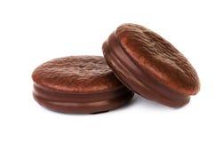 2 из заполненного печенья шоколада Стоковые Фото