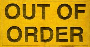 Из знака заказа стоковое изображение rf