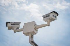 2 из камеры слежения CCTV Стоковые Изображения