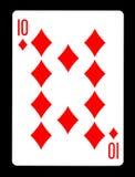 10 из карточки диамантов играя, Стоковая Фотография