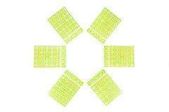 6 из карточки bingo готовой для того чтобы быть игрой Стоковое фото RF