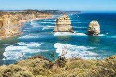 2 из куста 12 Apostels обозревая на большой дороге океана, Виктория, Австралия Стоковые Фото