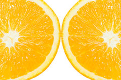 2 из оранжевого куска Стоковые Фотографии RF