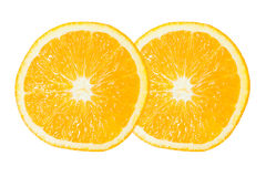 2 из оранжевого куска Стоковая Фотография