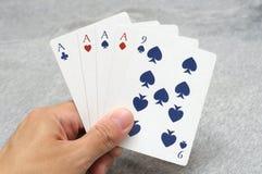 4 из рук покера вида стоковая фотография rf