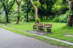 2 из стенда в парке Бангкоке, Таиланд Стоковое Изображение RF