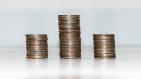 3 из стоящей монетки стоковая фотография