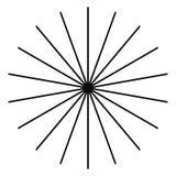 Излучающ, радиальные линии Starburst, форма sunburst Рэй, li луча иллюстрация штока