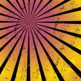 Излучающ, собирательные линии, лучи Яркий взрыв звезды, предпосылка sunburst Стоковое фото RF
