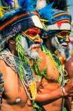 2 из людей в Папуаой-Нов Гвинее Стоковое Изображение