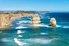 2 из 12 Apostels на большой дороге океана, Виктория, Австралия Стоковое Изображение