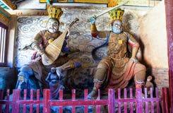 2 из 4 Virupaksa и Dhanada и Dhanada в Tianlongshan Тайюаня Стоковая Фотография RF