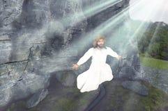 Иисус восходит от иллюстрации усыпальницы Стоковое фото RF