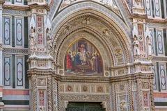 Иисус держа мозаику глобуса, Христос Pantocrator на портале Flor Стоковое Изображение RF