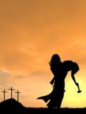 Иисус держа человека Стоковое фото RF