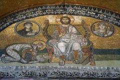 Иисус и император Canstantine стоковая фотография rf