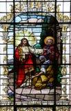Иисус и центурион Лорд, я не достоин для того чтобы иметь вас прийти под мою крышу стоковая фотография rf