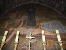 ИИСУС НА КРЕСТЕ, ГОЛГОФА, ЦЕРКОВЬ СВЯТОГО SEPULCHRE Стоковая Фотография