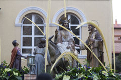 Иисус на осле Стоковое Изображение