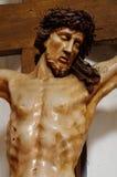 Иисус на перекрестных барочных деталях Стоковые Изображения RF