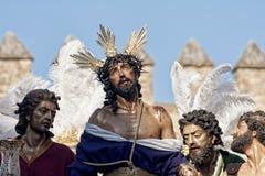 Иисус обнажал его одежд, пасхи в Севилье Стоковые Фото